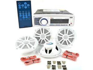 "New Boss Mck752wb.64 Marine Audio Bluetooth Radio/4 6.5"" Speakers/ Antenna"
