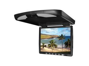 New Tview T144dvfd Black Flip Down Overhead Dvd Player Car Roof Mount Dvd Player