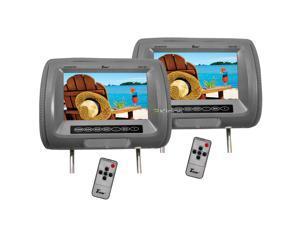 "Pair Tview T91pl-Gr Headrest 9"" Monitors Car Video Headrest Monitors Grey"
