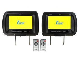 "Pair Tview T91pl-Bk Headrest 9"" Monitors Car Video Headrest Monitors Black"