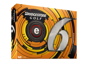 Bridgestone 2013 e6 Golf Balls (Pack of 12) - White - New for 2013