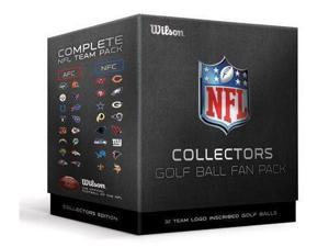 Wilson NFL Collectors 32 Pack Logo Golf Ball -  32 Team Logo Inscribed Golf Balls