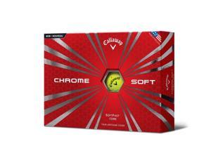 Callaway Chrome Prior Generation Soft Golf Balls-Yellow-Dozen