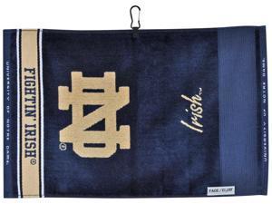 Notre Dame Fighting Irish NCAA Face/Club Jacquard Golf Towel -