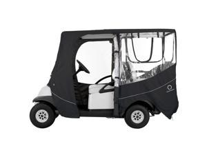 Classic Accessories Fairway Deluxe Golf Cart Enclosure - Long Roof-Fairway-Black