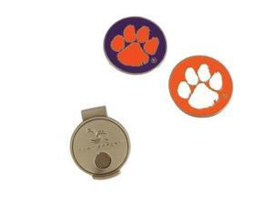 NCAA Hat Clip and Ball Markers-Clemson