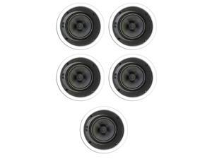 """Theater Solutions TSS6A New 6.5"""" In Ceiling Home Theater Glass Fiber Angled 5 Speaker Set 1250 Watts 5TSS6A"""