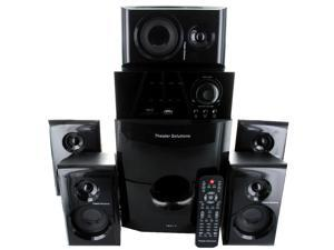 Theater Solutions TS514 Home Theater 5.1 Speaker System 600 Watts Tuner, Bluetooth and 2 Extension Cables TS514B-2