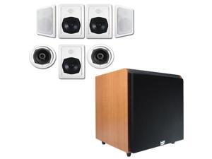 """Acoustic Audio HT-57 In-Wall/Ceiling 7.1 Home Theater Speakers and 12"""" Powered Sub HT-57-HD12C"""