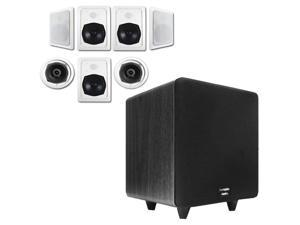 """Acoustic Audio HT-57 In-Wall/Ceiling 7.1 Home Theater Speakers and 15"""" Powered Sub HT-57-CS15B"""