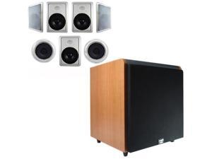 """Acoustic Audio HT-87 In-Wall/Ceiling 7.1 Home Theater 8"""" Speakers and 15"""" Powered Sub HT-87-HD15C"""