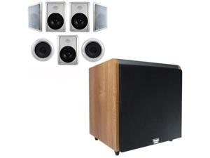 "Acoustic Audio HT-87 In-Wall/Ceiling 7.1 Home Theater 8"" Speakers and 15"" Powered Sub HT-87-HD15M"