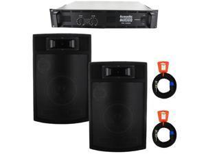 "Acoustic Audio PA380X Speakers, Amp and Cables 1200 Watt 8"" 3-Way Pro PA DJ Studio Monitor PA-380X-PK3"