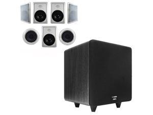 """Acoustic Audio HT-87 In-Wall/Ceiling 7.1 Home Theater 8"""" Speakers and 15"""" Powered Sub HT-87-CS15B"""