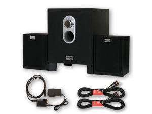 Acoustic Audio AA2101 Multimedia 250W 2.1 Home Speaker System Optical Input 2 Extension Cables AA2101D-2