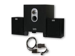 Acoustic Audio AA2101 Multimedia 250W 2.1 Home Theater Computer Speaker System with Optical Input AA2101D