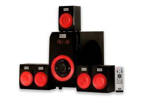 Acoustic Audio AA5180 Home Theater 5.1 Bluetooth Speaker System with FM Tuner