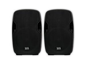 "Acoustic Audio AA12UB Powered 1800 Watts 12"" Bluetooth Speaker Pair 2 Way USB MP3 Player AA12UB-PR"