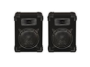 """Podium Pro E800C Passive Speaker 8"""" Pair Home PA DJ Karaoke Bookshelf 400W"""