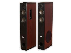 Acoustic Audio TSi600 Bluetooth Powered Floorstanding Tower Home Multimedia Speaker Pair