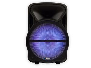 """Technical Pro PVOLT15LBT Bluetooth 15"""" Powered Speaker USB / SD Player with LED Light"""