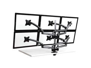 Cotytech Six Monitor Desk Mount Spring Arm Clamp Base - Dark Gray