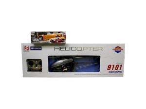 DOUBLE HORSE 9101 3.5 CHANNELS HELICOPTER WITH GYROSCOPE.. COMES WITH A FREE R/C RECHARGABLE LAMBORGHINI CAR