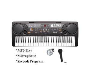 61 Keys Electronic USB MP3 Music Keyboard Piano Organ Records w/ Mic & Adaptor