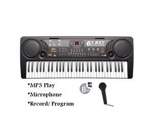 61 Keys Electronic MQ-809USB MP3 Music Keyboard Piano Organ Records w/ Mic & Adaptor