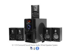 Frisby FS5000BT Bluetooth PC Laptop Computer Surround Sound 5.1 Home Theater Speaker System