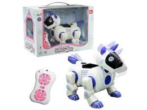 RC Smart Storytelling Sing Dance Walking Talking Robot Dog Pet Toy Gift Purple
