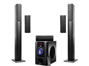 Frisby FS-6700BT 5.1 Surround Sound Tower Home Theater Speakers System with Bluetooth USB/SD and Remote