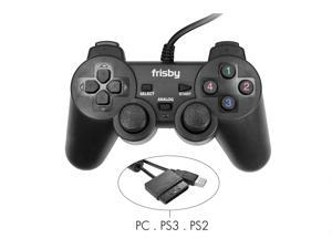 Frisby PC Laptop Notebook Desktop PS2 PS3 Dual Shock Vibration USB Gamepad Controller