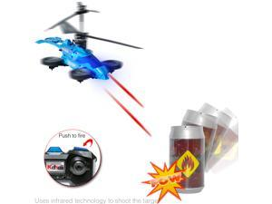 DURHERM 3.5ch Barrel Shooting Fighting IR Infrared Battle RC Helicopter w/ Gyro Transforms into a Car Toy