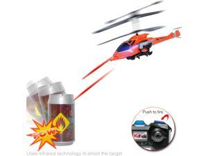 3.5ch Barrel Shooting Fighting IR Battle RC Helicopter Collapsible Missile Launcher Retractable Landing Gear Toy