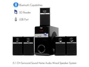 Frisby FS-5080BT 5.1 Surround Sound Home Theater TV PC Computer Laptop Notebook Speakers System with Bluetooth ...