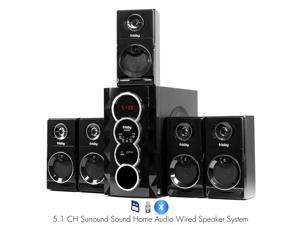 Frisby FS-5070BT 5.1 Surround Sound Home Theater Speakers System with Bluetooth USB/SD and Remote