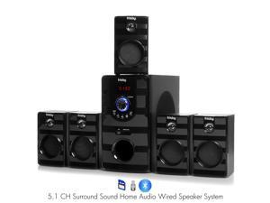 Frisby FS-5040BT 5.1 Surround Sound Home Theater Speakers System w/ Bluetooth Streaming USB/SD MP3 Playback & Remote Control
