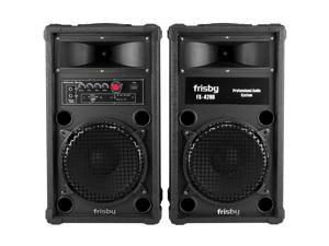 Frisby FS-4200ST Bluetooth Amplified Loud Indoor / Outdoor Speaker System Party Machine w/ FM Radio & USB & SD Slots & Remote Control