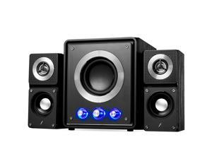 Bluetooth Wireless Streaming 2.1 CH Subwoofer Speaker System w/ USB SD & AUX for Home & Office