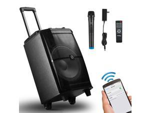 Frisby FS-4400P Portable Karaoke System w/ Bluetooth, Microphone, Remote Control, SD Reader, USB, LED Colored Lights