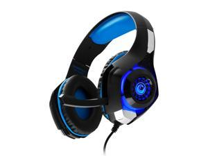Frisby Comfortable Over Ear Stereo Professional Headphone Gaming Headset w/ In-Line Audio Control, Boom Mic, Adjustable Headband, LED Lighting, 3.5mm for Wii U, PS4 & Xbox One