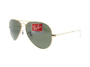 Ray Ban Aviator Polarized Sunglasses RB 3025 001/58 62mm