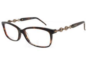 GUCCI Eyeglasses  3624 0CQN Havana 53MM