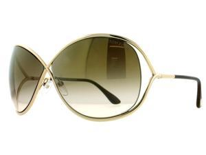 Tom Ford Miranda TF130 28G Light Gold Womens Oversized Soft Square Sunglasses