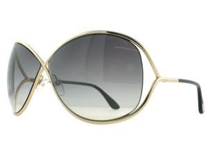 Tom Ford Miranda TF130 28B Rose Gold/Black Women's Soft Square Sunglasses