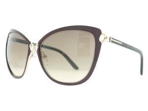 Tom Ford TF 322 Celia 28J Burgundy/Gold TF322 Cat Eye Womens Sunglasses 59mm