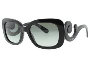Prada SPR 27O 1AB-3M1 Black Baroque Women's Sunglasses