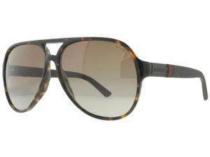 Gucci GG 1065/S 4UR/LA Havana Aviator Polarized Unisex Sunglasses