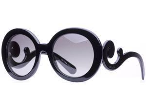 Prada SPR 27N 1Ab-3M1 Black Swirl Women's Sunglasses